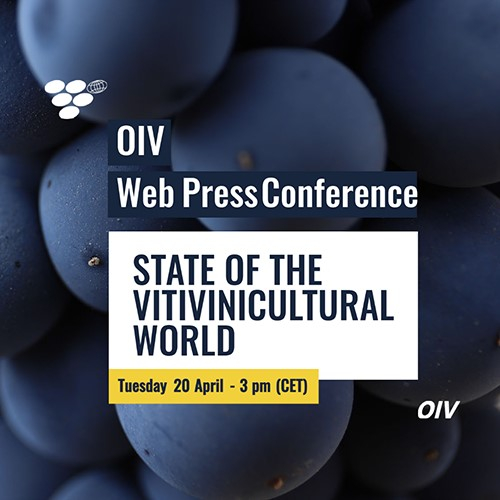 OIV Web Press Conference Invitation. 20 April 2021